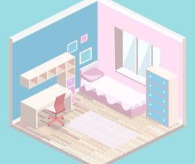Childrens room design vector