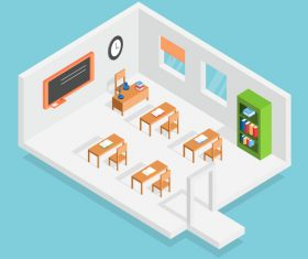 Classroom concept design vector