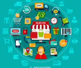 Concept e-commerce vector