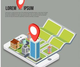Concept positioning design vector