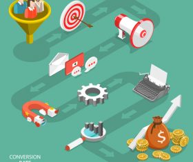 Conversion rate optimization business vector