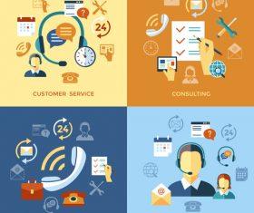 Costomer service cartoon illustration vector
