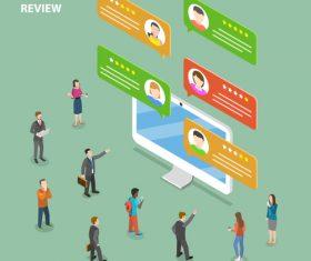 Customer review cartoon illustration vector