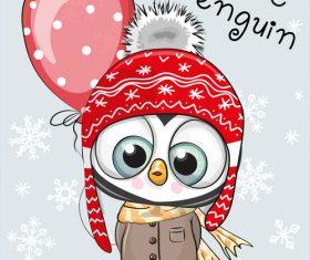 Cute penguin cartoon vector