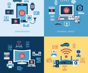 Digital appliances cartoon illustration vector