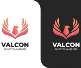Eagle falcon bird fly simple logo vector