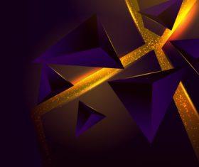 Flowing golden liquid abstract background vector