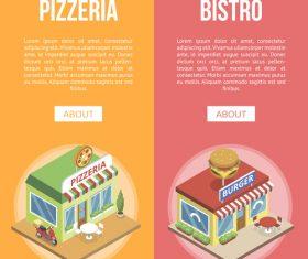 Food store design vector