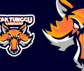 Fox head sports logo vector