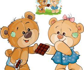 Give away chocolate cartoon illustration vector
