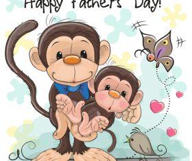 Happy fathers day cartoon vector