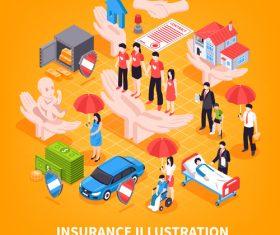 Insurance illustration vector