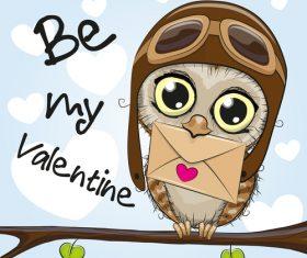 LOVE card cartoon vector
