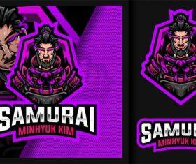 Legendary samurai minhyuk kim gaming mascot logo vector
