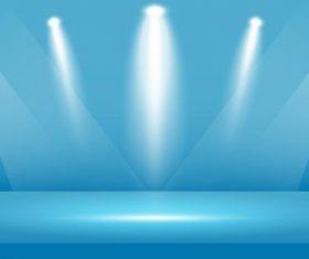 Light blue background light effect vector
