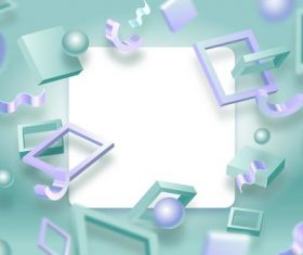 Light colored squares and spheres abstract background vector