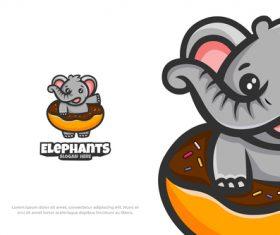 Logo cute mascot animal vector