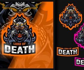 Lord of death skull mask gaming mascot logo vector