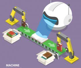 Machine learning cartoon illustration vector
