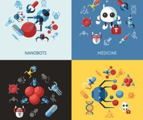 Medicine robot cartoon illustration vector