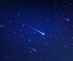 Meteor background vector