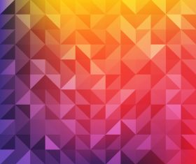 Orange and pink geometric background vector