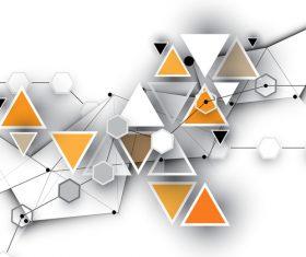 Origami geometric background vector
