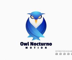 Owl gradient logo vector
