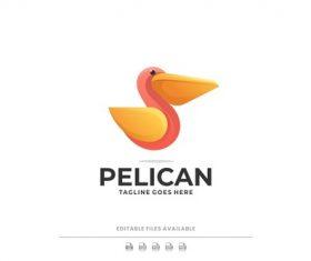 Pelican gradient logo vector