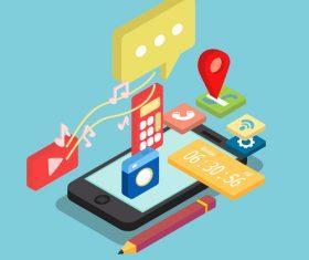 Phone conceptual design vector