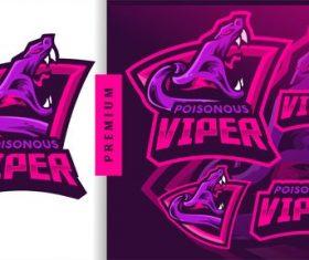 Poisonous viper gaming mascot logo vector
