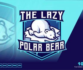 Polar bear cartoon logo vector