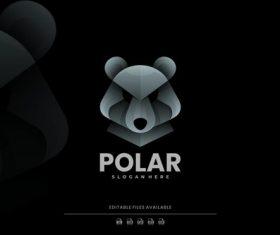 Polar gradient logo vector