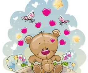 Put outdoor teddy bear vector