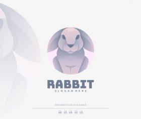 Rabbit gradient colorful logo vector