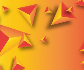 Red and orange triangle background vector