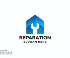 Reparation gradient logo design vector