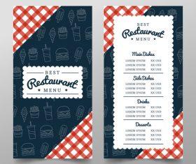 Restaurant background design vector