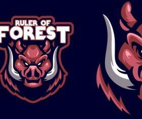 Ruler of forest logo vector