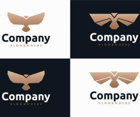 Set eagle logo design vector