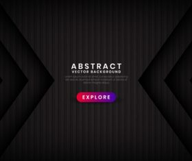 Shrink black abstract background vector