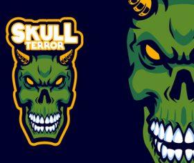 Skull head logo vector