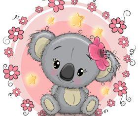 Sloth cartoon illustration vector