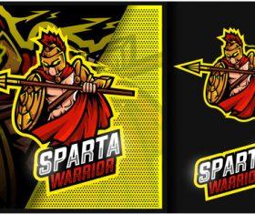 Sparta warrior esport logo vector