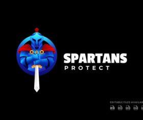Spartan gradient logo vector