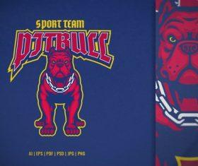 Sport and esport logo of pitbull vector