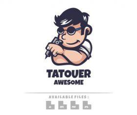 Tatouer logo mascot vector
