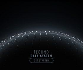 Techno data system background vector