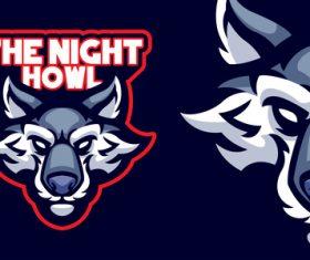 The night howl logo vector