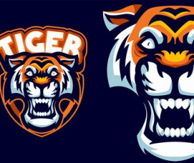 Tiger esports logo vector